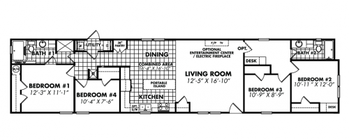 Single Wide Mobile Homes Floor Plans Designs Ideas Decorating