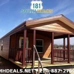 Single Wide One Bedroom Porch Model Trailer House Faux Cedar