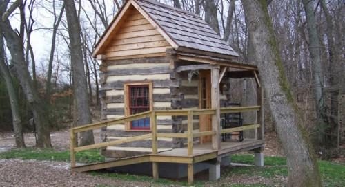 Small Log Cabin Home