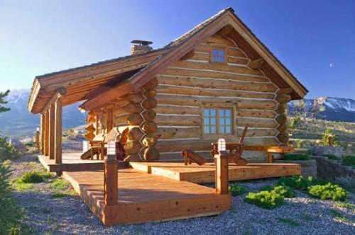 Small Log Cabin Homes Plans