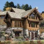 Small Log Homes Floor Plans Targhee Cabin Home Rustic Luxury