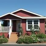 Small Manufactured Home Red Walls