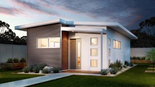 Small Modular Home Design Backyard