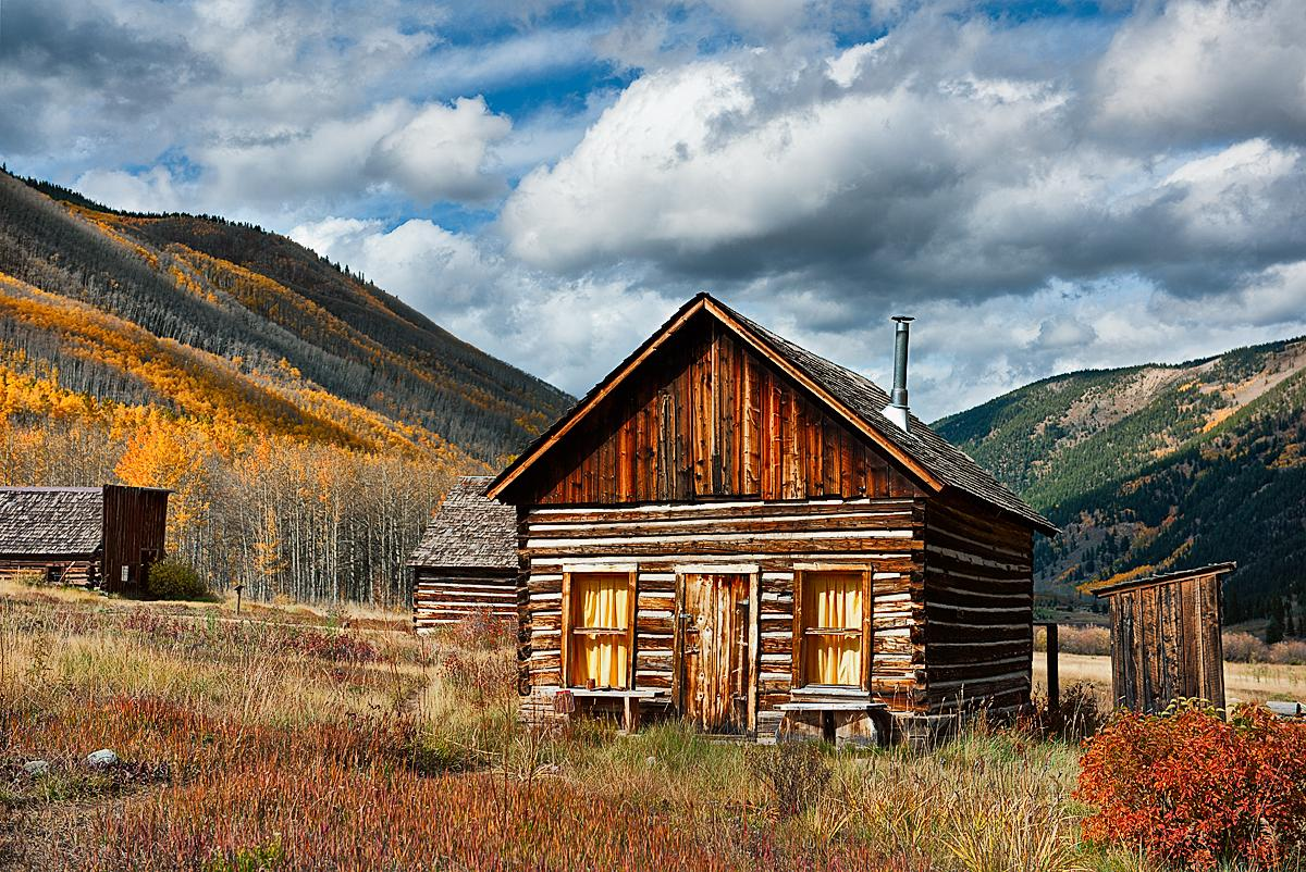 Southwest Colorado Color Miner Log Cabin Ashcroft Ghost Town