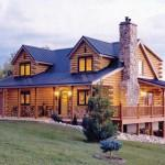 Springs Log Home Plan Wilderness Timber Company Ridgeview