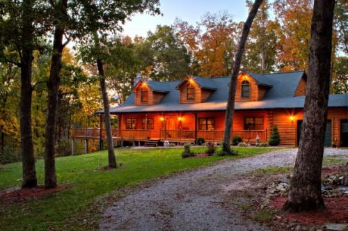 Square Foot Custom Log Home Gastineau Homes