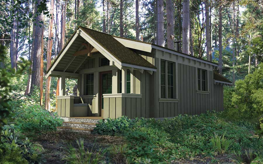 Square Foot Port Townsend Model Features Front Porch