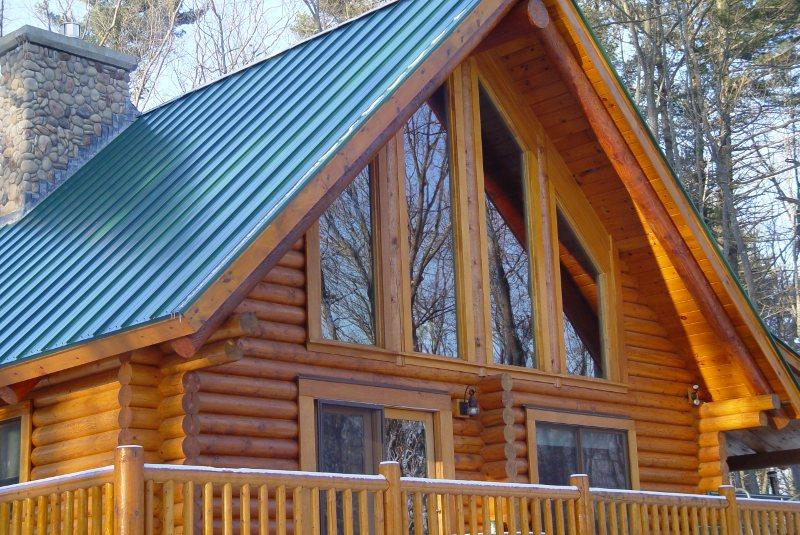 Stain Finish Log Home