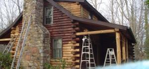 Staining Log Homes Home Restoration Cabin