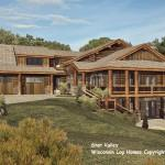 Star Valley Log Home Floor Plan Wisconsin Homes