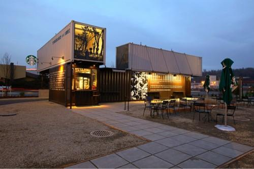 Starbucks Recycled Shipping Containers