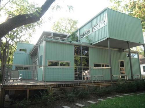 Steel Shipping Containers Homes Color Light Green