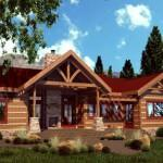 Stonemill Log Homes Cottonwood Floor Plan Package