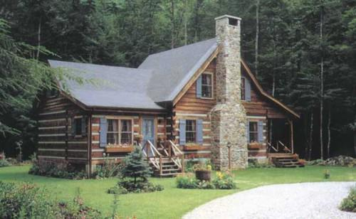 Stonemill Log Homes Willow Creek Home Plan Exterior