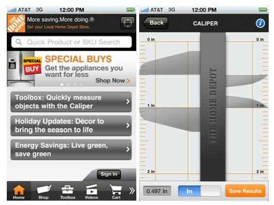 Store Locator Toolbox Home Depot Mobile App