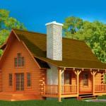 Strongwood Log Home Company Clearwater Plan