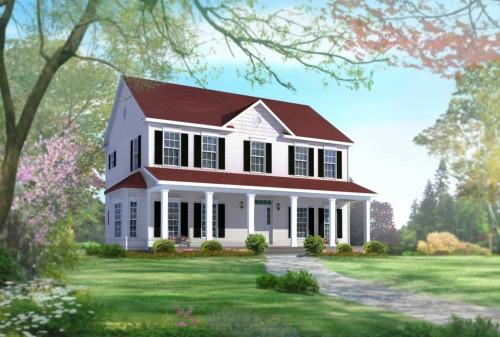 Style Two Story Square Feet Plan Bedrooms Bathrooms