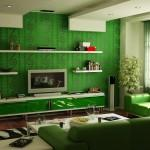 Stylish Living Room Green Modern Furniture Sofas