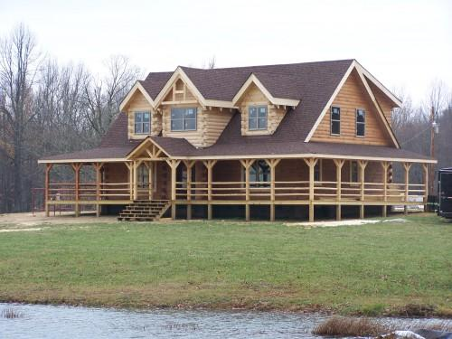 Supplied Smoky Mountain Wood Products Dry Log Home Package