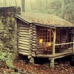 Thirteen Tiny Dream Log Cabins Floating Home