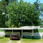 Tidy Olive Green White Mobile Home Awning Raised Roof Saline