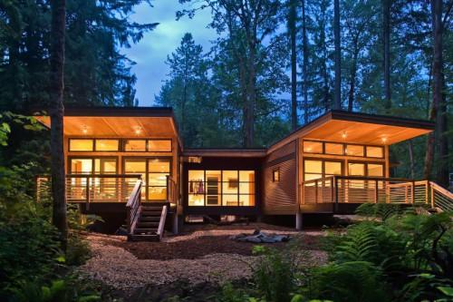 Traditional Craftsman Style Doe Bay Prefab Cottage Orcas Island