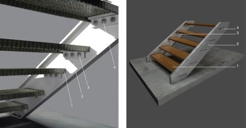 Treads Made Prefabricated Patterned Sheet Metal