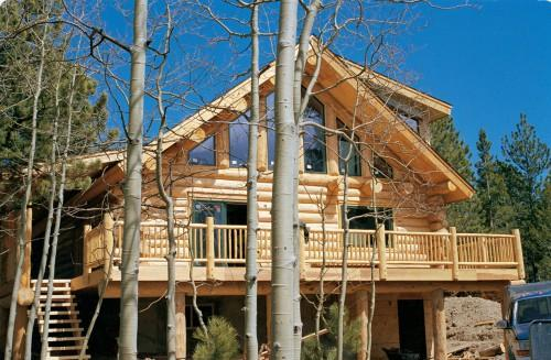 Trees Handcrafted Scribe Log Home Caribou Creek Timber