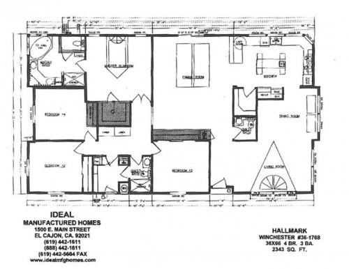 Triple Wide Mobile Home Floor Plans Ideal Mfg Homes Manufactured