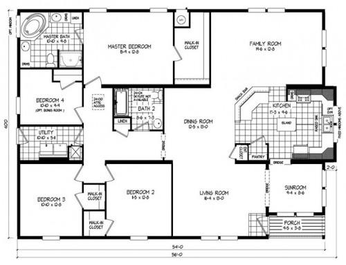Triple Wide Mobile Home Floor Plans Russell Clayton Homes