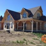 True North Citadel Log Home Being Built Saksatchewan