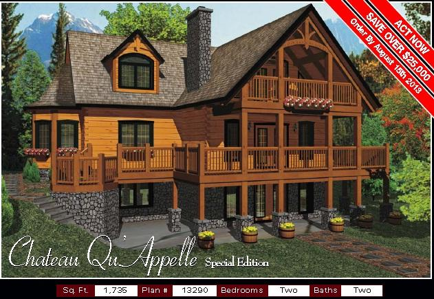 True North New Chateau Appelle Special Edition Model Log Home