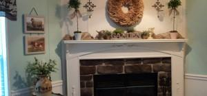 Turn Dull Into Delicious Her Redoing Fireplace Mantel Post