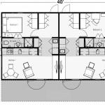 Two Bedroom Bath Shipping Container Home Floor Plan