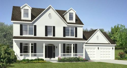 Two Story Square Feet Plan Bedrooms Bathrooms
