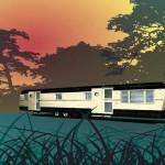 Vintage Mobile Home Graphic