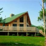 Ward Cedar Log Home Exterior Featuring Prow Front