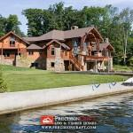 Waterfront Precisioncraft Custom Log Home