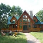 Waupaca Chain Lakes Log Home Lime Kiln Lake
