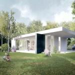 White Green Prefab Homes Exterior