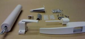 White Storm Door Hardware Set
