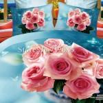 Wholesale Hot Sell Blue Home Textile Queen Romantic Bedlinen