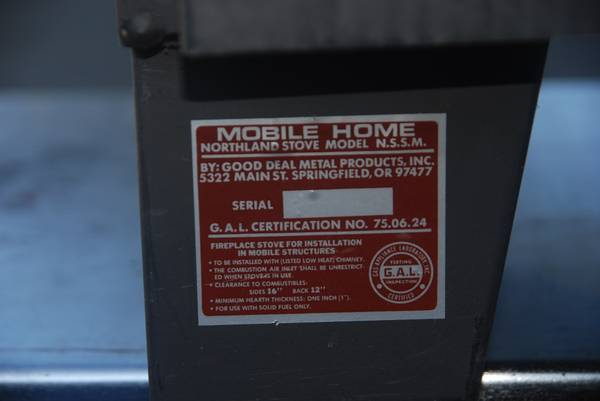 Wood Stove Mobile Home Approved Astoria