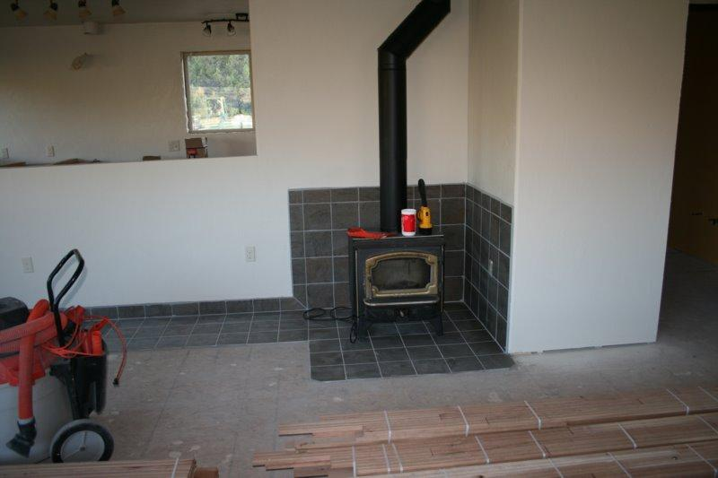 Woodstove Has Been Moved Over Mobile Home House