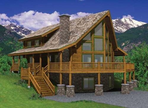 Yellowstone Log Homes Breckenridge Home Plan