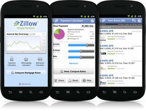 Zillow Mortgage Marketplace Android App