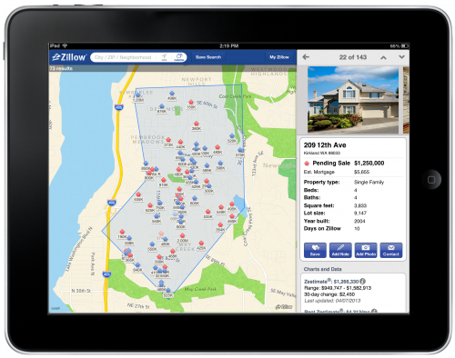 Zillow Remodels Ios App Says Homes Viewed Per Second Mobile